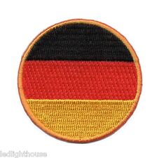 Fifa World Cup 2014 Germany Football Club ~ GERMANY ROUND FLAG EMBROIDERED PATCH