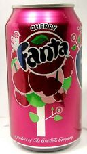 FULL New 12 Ounce (New Style) Can Coca-Cola's Fanta Cherry USA 2015