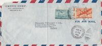 U.S. OMNEX CORP. N.Y. Air Mail 1940s Two Stamps Cover to France- TEAR Ref 44649