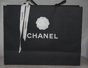 CHANEL GRAND SAC SHOPPING CARTON EMBALLAGE CADEAU SUPER LUXE + CAMELIA & RUBAN