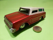 TIN TOYS BLEACH  AMERICAN CAR STATION - AMBULANCE - VERY GOOD - FRICTION