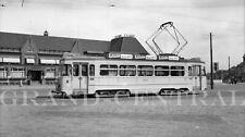 ORIGINAL 1951 HAGUE HOLLAND TRAM NEGATIVE #201 STREETCAR BAHN RAILWAY TROLLEY