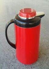 Vintage Retro Red Phoenix Insulated Tea Coffee Carafe Thermos Black Silver Pot