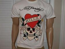 Ed Hardy  Love Kills Slowly T Shirt White NWT EH001
