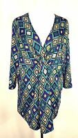 NWT Travel Elements Plus Size 1X Knotted Empire Waist Tunic Top