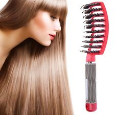 New Boar Bristle Hair Brush Best at Detangling Thick Hair Vented For Faster Blow