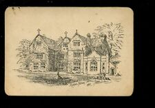 Somerset HINTON Abbey line drawing on thick gold edged plain back card
