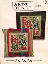 "NEW Art To Heart Christmas Cross Stitch Pattern:  ""Fa La La""  ** With 6 Buttons"
