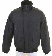 ESPRIT Mens Windbreaker Jacket Size 42 XL Black Polyamide  GX15