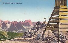 Ansichtskarte Italien   Schlern Gipfel mit Rosengarten