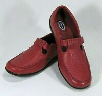 Dr. Scholl's Women's Red Leather Slip-On Comfort Loafers Size: 5.5M