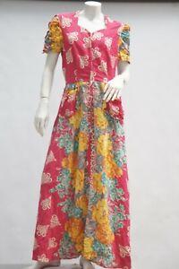 Vintage 30s Floral Print Maxi Dress House Dress