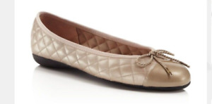 Paul Mayer Attitudes Best Patent Champagne/Nappa Champagne Ballet Flat 5-11/NEW!