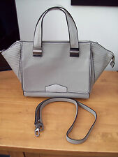 M&S GREY TAUPE FAUX LEATHER HAND SHOULDER CROSS BODY BAG LTD ED UNUSED CONDITION