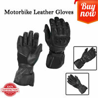 RXL Motorbike 100% Pure Leather Motorcycle Kunkle  Gloves Protection Waterproof