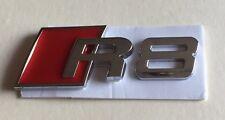 Chrome Audi R8 Logo Badge Emblem for Rear Boot Trunk Tailgate or Fender