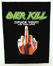 OVERKILL BACKPATCH / SPEED-THRASH-BLACK-DEATH METAL