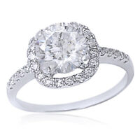 NEW! .925 STERLING SILVER HALO DESIGN RUSSIAN CZ WHITE TOPAZ RING SIZES 5-10