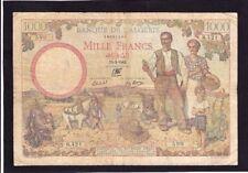 Algeria 1000 Francs 1942 P-86   VG+