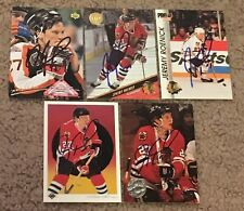 LOT OF (20) JEREMY ROENICK SIGNED  AUTOGRAPHED HOCKEY CARDS! HALL OF FAME HOCKEY