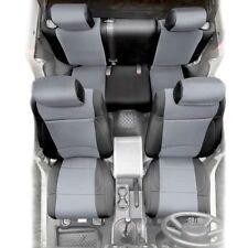 Smittybilt Black/Grey Front + Rear Pair Neoprene Seat Covers, Jeep JK 2007 4-DR