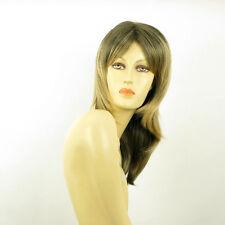 Perruque femme mi-longue Brun méché doré : ELEA 1BT24B