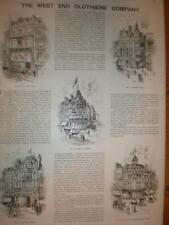 The West End Clothiers Co Uk London art ad 1893