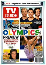 2014 TV Guide Sochi Winter Olympics Preview Miller USA Hockey Gold White Cover!