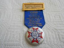 Vintage 1948 Wichita Kansas Encampment VFW USA Auxiliary President Ribbon Pin