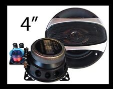 """Altavoces fibra carbono 10cm - 4"""" Blastersound con Separador de Vias Para Coche"""