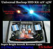 Universal 15W HID Reverse Backup Kit OEM Yellow 4300K T20 7440 W21W Fog Light