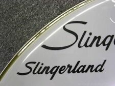 Slingerland Black 50's 60's Vintage Logo Replacement (Hi Quality 3M Vinyl!)