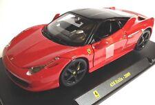 Ferrari 458 Italia 2009 1:24 Burago diecast model car