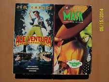 3 Jim Carrey VHS movies: Ace Ventura When Nature Calls, The Mask, ...Grinch...