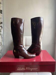 Salvatore Ferragamo Brown Leather Boots US 8.5 WOMEN