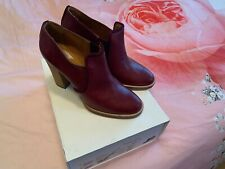 Isabel Marant Clarisse Wine Leather Boots In 41( NEW BOXED)