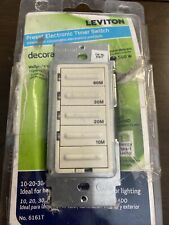 LEVITON DECORA TIMER SWITCH 10-20-30-60 MINUTE PRESET WHITE 500W 6161T - NEW