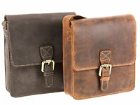 Visconti Distressed Hunters Leather Small Messenger Cross Body Bag - Roca 18722
