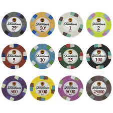 New Bulk Lot of 600 Showdown 13.5g Clay Casino Poker Chips - Pick Chips!