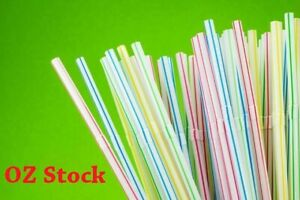 100/900~5000 Pcs Colourful BendableDisposable Plastic Drinking Straw ~21cm