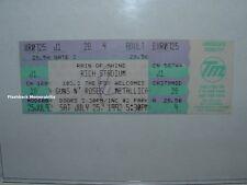 GUNS N' ROSES / METALLICA Unused 1992 Concert Ticket BUFFALO RICH STADIUM Rare