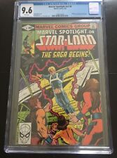 MARVEL SPOTLIGHT 6 STAR-LORD CGC 9.6 WHITE PAGES 1ST PETER JASON QUINN NEW HOLDE