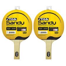 Stiga Set of 2 Sandy Premium Table Tennis Ping Pong Paddle