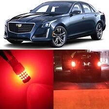 Alla Lighting Brake Turn Signal Light 3157K Red LED Bulbs for 03~07 Cadillac CTS