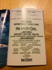 PLAYBILL: Me and My Girl - Marquis Theatre, New York (1988) Jim Dale