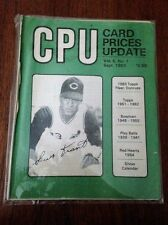 CPU CARD PRICES UPDATE SEPTEMBER 1983 THE GOOD OLD DAYS OF CARD COLLECTING