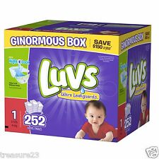 *NEW* Luvs Ultra Leakguards Diapers, Size 1, 252 Count, 8-14lbs FREE SHIPPING