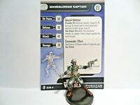 Mandalorian Captain #56 Knights Of The Old Republic WITH Stat Card