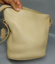 COACH SONOMA buttery beige wheat pebbled leather CROSSBODY BUCKET bag 4907