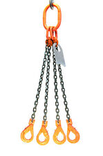 Chain Sling 38 X 10 Quad Leg With Positive Locking Hooks Grade 100